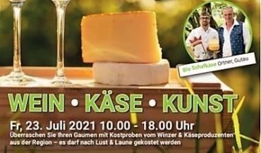 Wein, Käse und Kunst Tag am 23. Juli 2021